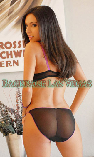 Sexy Las Vegas backpage shows off in black lingerie.